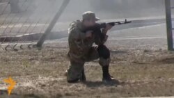 Ukrainian National Guard Recruits Demonstrate Their New Combat Skills