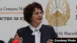 Министерката за култура Наташа Стефоска
