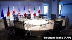 Imagine de la reuniunea G7 din 6 aprilie 2019 din Franța.