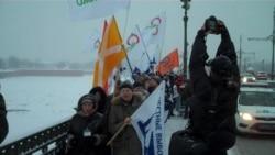 Марш протеста в Петербурге