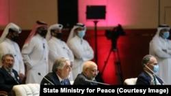 În timpul negocierilor de pace din Qatar
