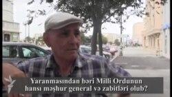 Yaranmasından bəri Milli Ordunun hansı məşhur general və zabitləri olub?