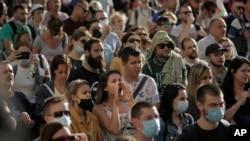 Proteste la Sofia, Bulgaria, 13 iulie 2020.