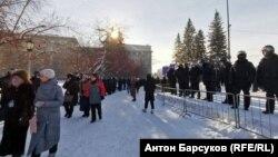 Митинг в Новосибирске 31 января 2021 года