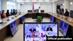Виртуальный саммит Евразийского экономического союза. Ереван, 21 мая 2021 года.