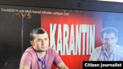 Барномаи телевизионӣ роҷеъ ба COVID-19 дар Узбекистон