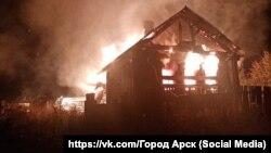 Пожар в селе Шура