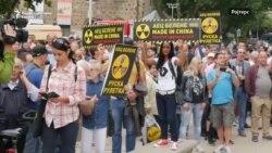 Протести за и против нуклеарката Белене во Бугарија