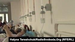 Imagini dintr-un spital din orașul Lvov, Ucraina