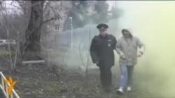 Посольство Польши в Москве забросали дымовыми шашками