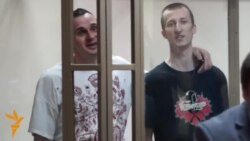 Ukrainian Defendants Sentenced In Russia, Sing National Anthem