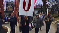 Ушанаваньне памяці братоў Луцкевічаў на могілках Росы ў 1993 годзе