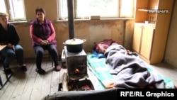 Աղդամի շրջանի գյուղերից տարհանվածները Մարտակերտի դպրոցու