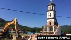 Shembja e kishës në Bosnje dhe Hercegovinë.