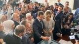 Башар Асад вместе с супругой Асмой голосует на президентских выборах в Сирии. Город Дума, 26 мая 2021 года