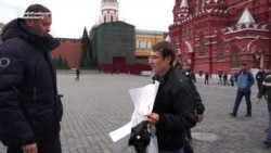 Anti-Putin Protester Returns To Moscow, Arrested Again In Red Square