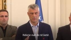Thaçi: Nuk ka ndarje të Kosovës