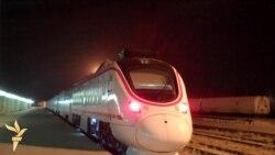 القطار الصيني يبدأ اولى رحلاته