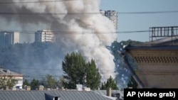 Explosions Rock Moscow As Fireworks Warehouse Burns GRAB 1