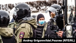 Акция в поддержку Навального в Казани, 31 января 2021 года