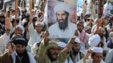 Supporters of the hard-line pro-Taliban party Jamiat Ulema-i-Islam-Nazaryati shout anti-U.S. slogans during a protest on May 2, 2011, in Quetta after the killing of Osama bin Laden.
