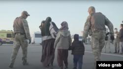 Скриншот с официального видео о спецоперации «Жусан» по репатриации казахстанцев с Ближнего Востока.
