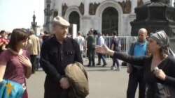 Anti-Putin Activists, Christians Clash At Moscow Cathedral