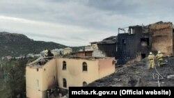 Последствия пожара в Новом Свете, 8 апреля 2021 года