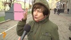 ВІДЭА: Жанчына тлумачыць, чаму Беларусь павінна быць з Расеяй