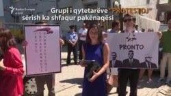 Qytetarët protestojnë para PDK-së