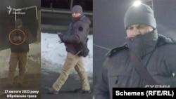 17 лютого, коли знімальна група «Схем» заїхала на заправку на Обухівській трасі– там біля неї з'явився чоловік, сфотографував авто і щось написав у телефоні