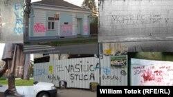 Antisemitism în spaţiul public (colaj)