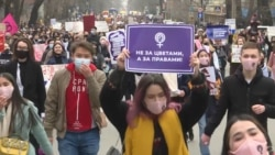 Kazakh Women Mark International Women's Day With Demand For Equality
