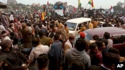 اعتراض جنبش دموکراتیک پاکستان در ایالت ملتان