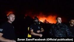 Zjarret gjatë natës ndërmjet të hënës dhe të martës në Maqedoninë e Veriut.