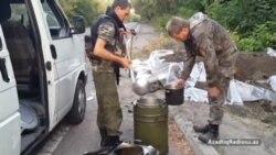 Donetskdə, Vostok batalyonunun mövqelərində