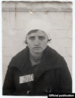 Учительница Евжения Готтвальдова, приговоренная к трехлетнему заключению в трудовых лагерях
