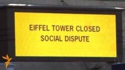 Під Ейфелевою вежею, яка не працює через страйк, черги туристів