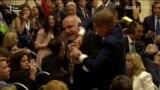 Чоловіка силою вивели з зали перед брифінгом Трампа і Путіна