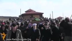 Хроники: в Симферополе похоронили Решата Аметова (видео)