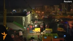 Rescue Workers Search For Survivors Trapped In Latvian Supermarket Collapse