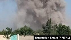 Afghanistan - The smoke of a car bomb in Nangarhar province