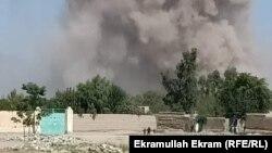 تصویری از محل انفجار و درگیری در ولایت ننگرهار افغانستان