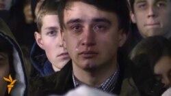 03.02.2015 Протести во Авганистан, тагување по пеачот Кузменко во Киев