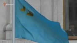 На флагштоках МЗС вивісили кримськотатарський прапор (відео)