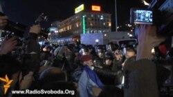 Militanți ai Revoluției portocalii se confruntă cu poliția la Kiev