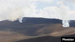 Armenia - Wildfires rage near the Armenian border village of Kut, September 1, 2021.