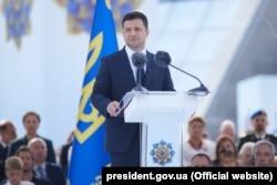 Владимир Зеленский, президент Украины, во время празднования Дня Независимости Украины, 24 августа 2021 года
