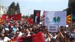 """""""Zbogom, Nikola"""" poruka je makedosnkih demonstranata"""