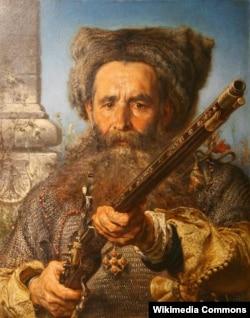 Запорожский атаман Евстафий Дашкевич (1470-1536). Автор портрета Ян Матейко